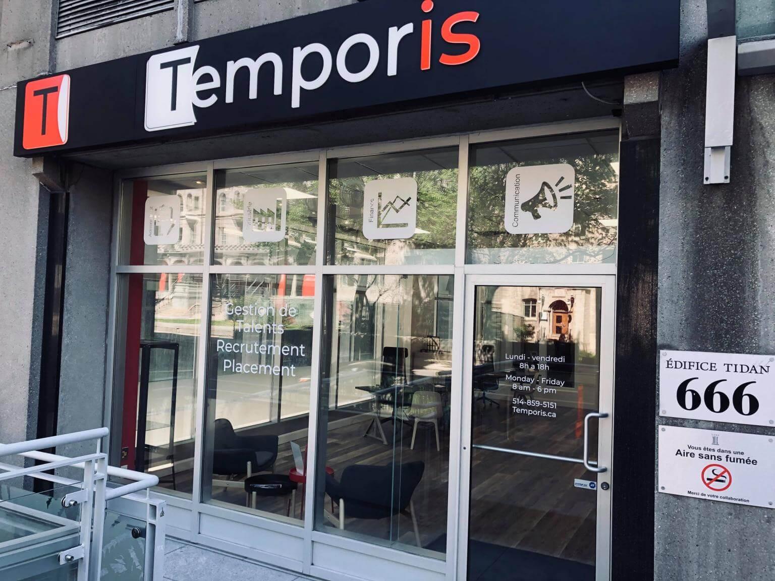 Devanture Temporis Montréal