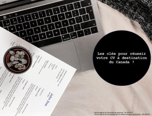 Réussir votre CV pour votre recherche d'emploi au Canada